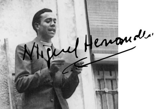 El poeta Miguel Hernández